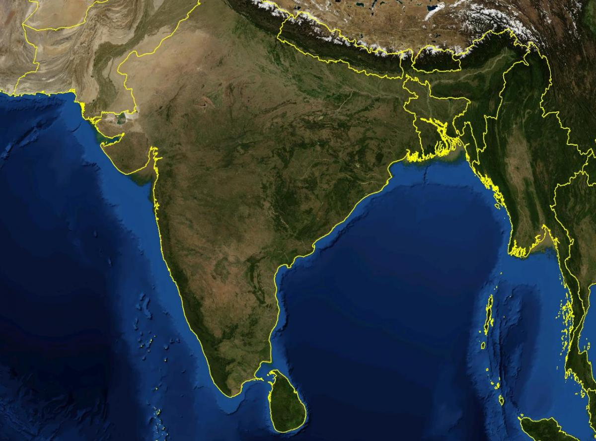 Live Satelit Harta E Indi Satelitor Harta E Indi Jetojne Ne Jug